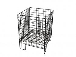wire dump bin basket