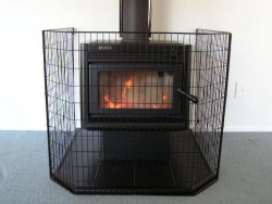 wire nursery fire box guard - safety and protection