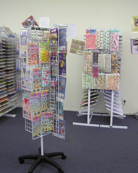 revolving mesh display stand