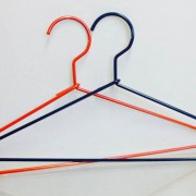 custom made coloured wire hangers - shopfittings