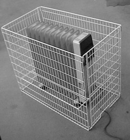 Wire Oil Heater Guard - safety and protection