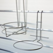 Round Wire Holders - shopfitting and display