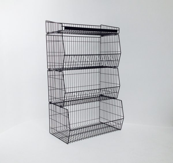 medium duty wire stackable baskets - display and storage