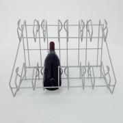Custom Made 8 bottle wire wine rack - display