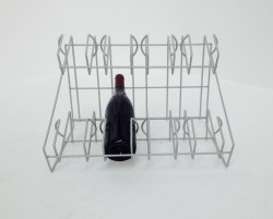 Custom Made 8 bottle wire wine rack - display