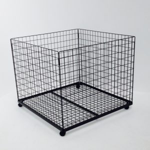 Wire Basket Cage with Castors - baskets and cages display dump bins