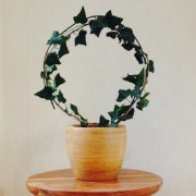 Ivy Topiary Wire Circle - display