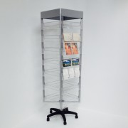 Rotating Display Stand with Acrylic Pockets