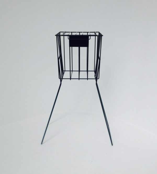 Wire Tennis Ball Collector Stand - standing position