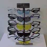 Wire Glasses display stand with glasses
