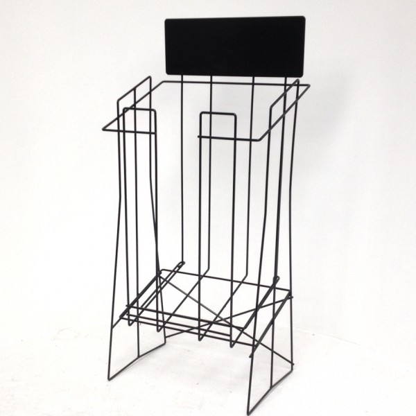 A3 Wire Real Estate Display Stand Extra Deep Landscape with extra top support wire