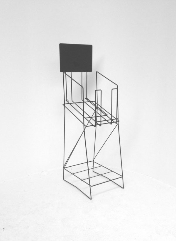 A3 Wire Standard Real Estate Display Stand Portrait