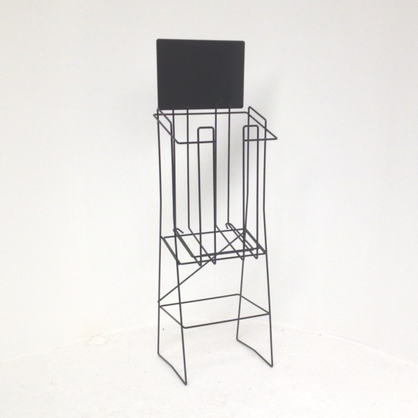 A4 Wire Real Estate Display Stand Deep Landscape with extra top support wire