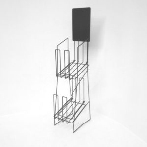 A4 Wire Real Estate Display Stand Double Portrait Stand