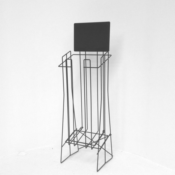 A4 Wire Real Estate Display Stand Extra Deep Landscape with extra top support wire