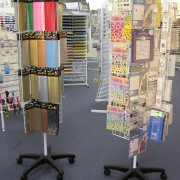 Rotating Mesh Display Stands - shopfitting
