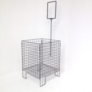 Wire Fold Away Dump Bin with Sign Pole and Frame - display