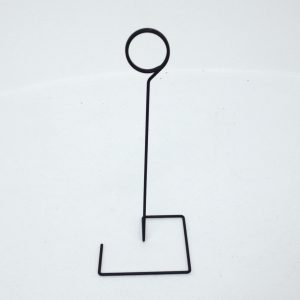 Wire Table Stand Loop Sign Holder - display