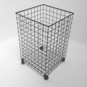 Wire Laundry Basket with Castors