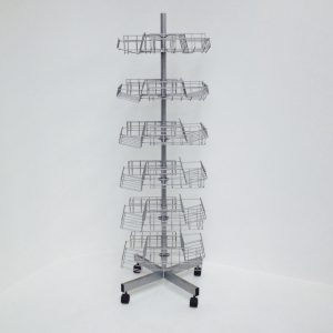 Rotating Display Stand with 4-tray tiers
