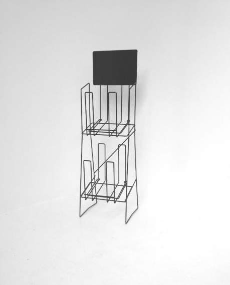 A4 Wire Double Real Esate Display Stand Landscape