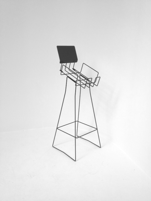 A4 wire laidback real estate display stand portrait