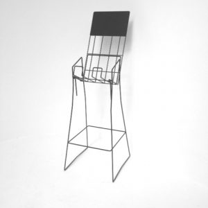 A4 wire upright real estate display stand portrait