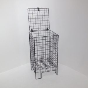 lockable wire dump bin - shopfitting