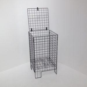 lockable wire dump bin - shopfitting