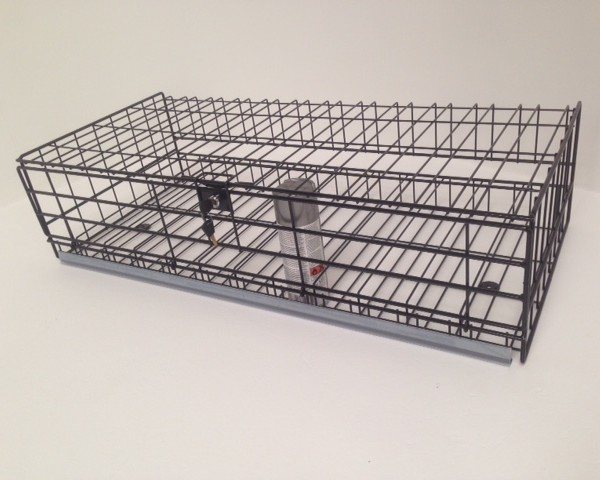 lockable wire basket with drop down door and lock