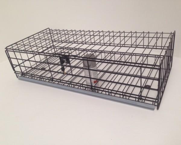 lockable wire basket with drop down door and lock