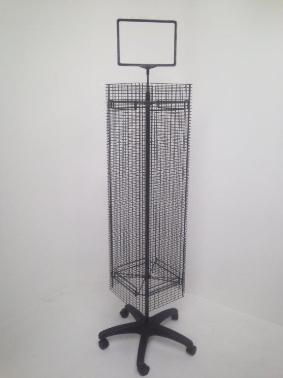 Rotating Slat Grid Mesh Stand Wire Displays